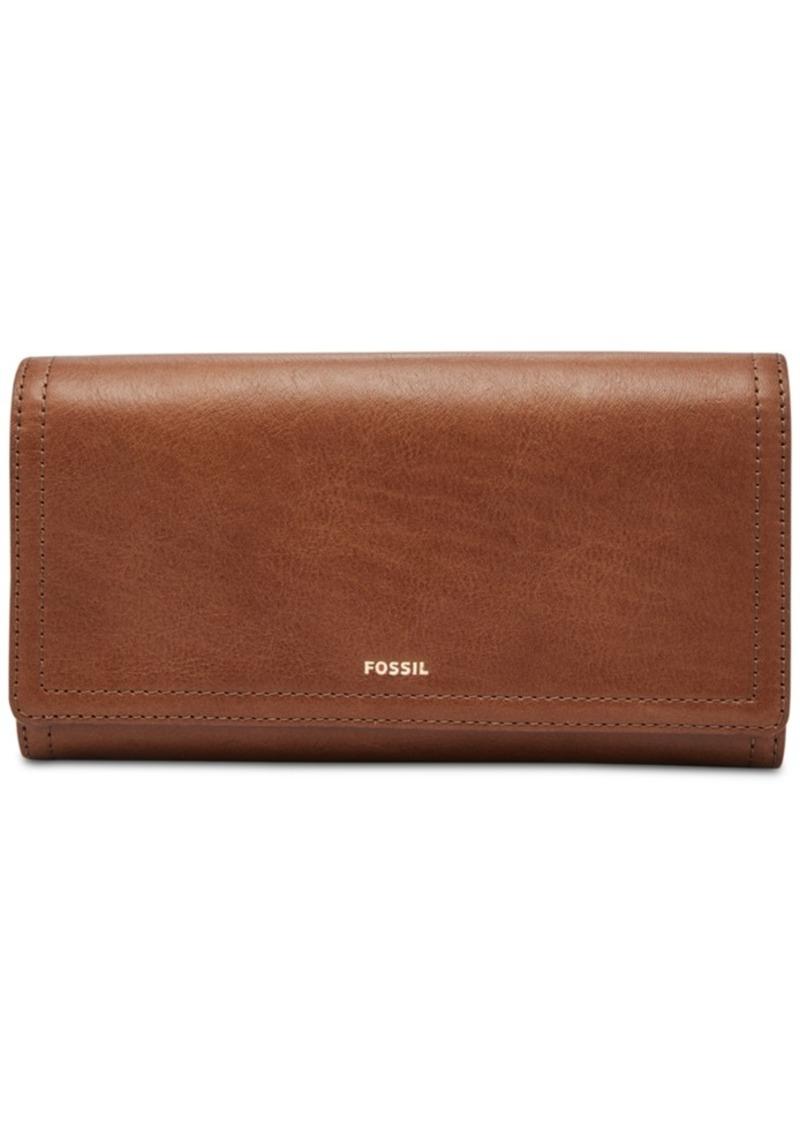 Fossil Logan Leather Flap Clutch Wallet
