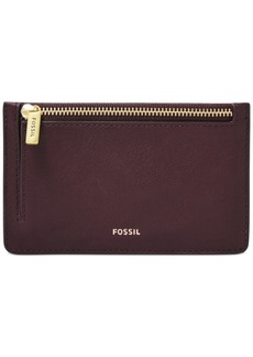 Fossil Logan Leather Zip Coin Wallet