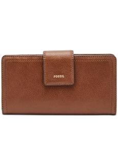 Fossil Logan Leather Tab Clutch Wallet