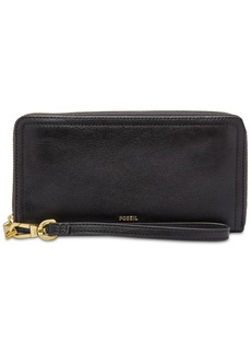 Fossil Logan Leather Zip Around Wallet