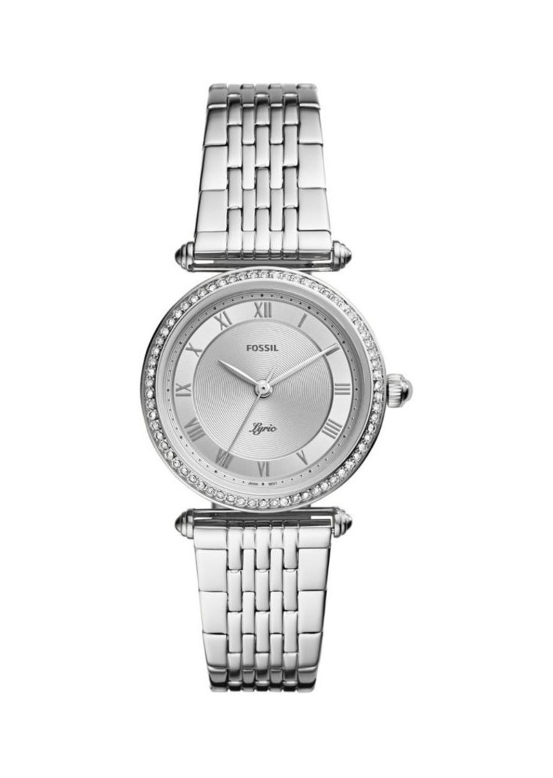 Fossil Lyric 3-Hand Stainless Steel & Crystal Bracelet Watch