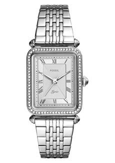 Fossil Lyric Crystal Bracelet Watch, 28mm