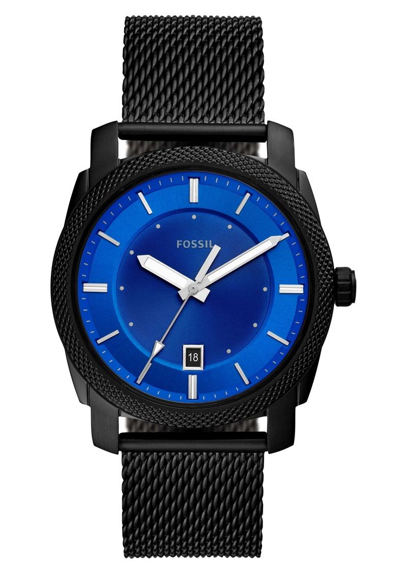 Fossil Machine Mesh Strap Watch, 42mm