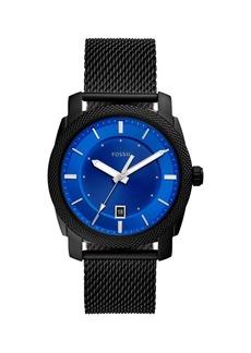 Fossil Machine Stainless Steel Bracelet Mesh 3-Hand Watch