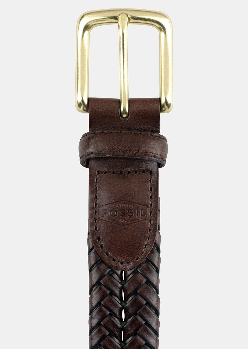 Fossil 'Maddox' Leather Braid Belt