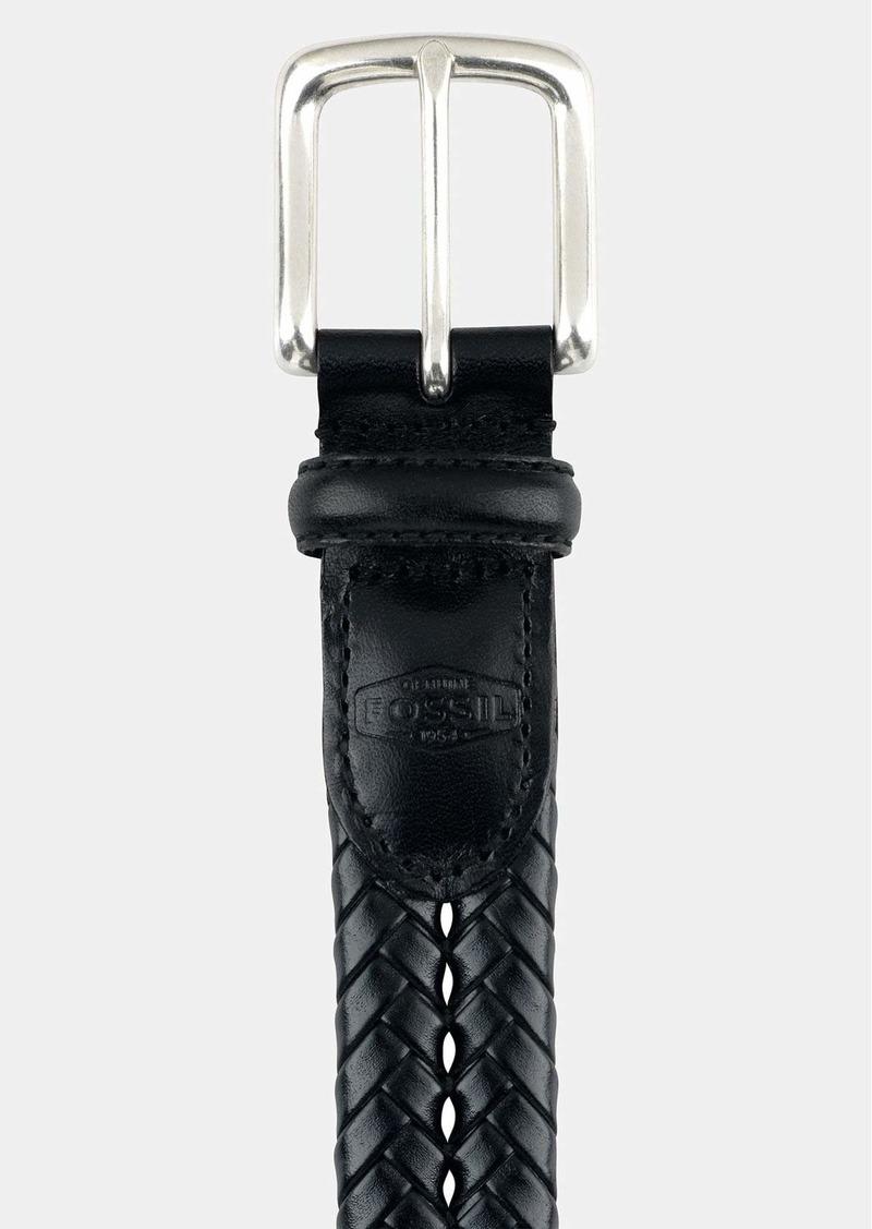Fossil 'Maddox' Leather Braid Belt