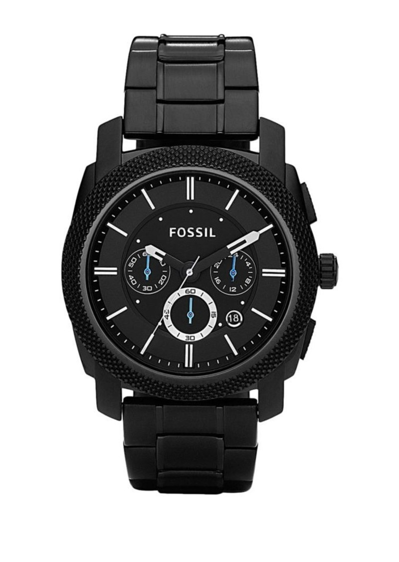 Fossil Mens Black Chronograph Watch