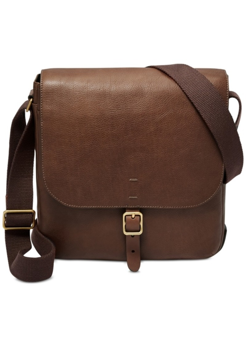 Fossil Men's Buckner Leather City Bag