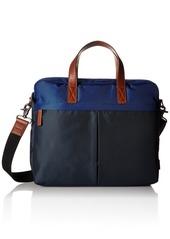 Fossil Men's Buckner Workbag Laptop Messenger Bag Buckner Brief-Blue