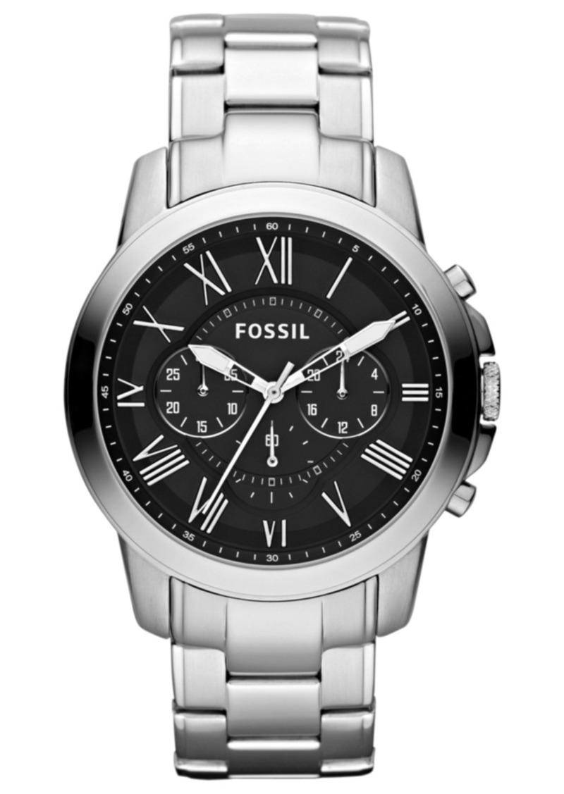 Fossil Men's Chronograph Grant Stainless Steel Bracelet Watch 44mm FS4736