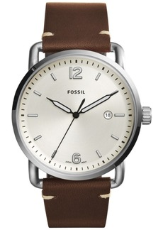 Fossil Men's Commuter Dark Brown Leather Strap Watch 42mm FS5275