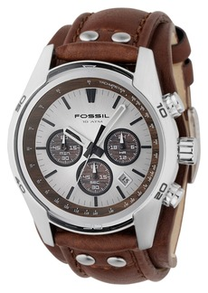 Fossil Men's Decker Brown Leather Strap Watch CH2565