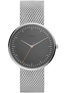Fossil Men's Essentialist Stainless Steel Mesh Bracelet Watch 42mm