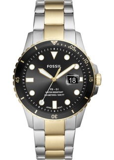 Fossil Men's Fb-01 Two-Tone Stainless Steel Bracelet Watch 42mm