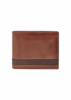 Fossil Men's Quinn Leather Bifold Flip ID Wallet