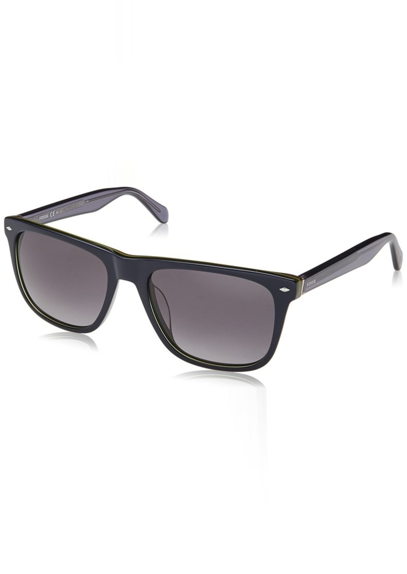 Fossil Men's Fos 2062/s Square Sunglasses BLUE