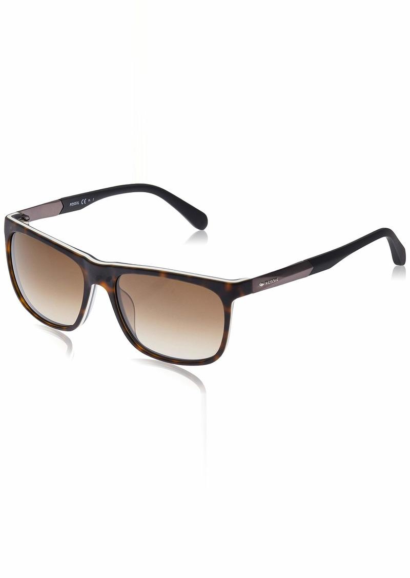 Fossil Men's Fos 2068/s Rectangular Sunglasses  57 mm