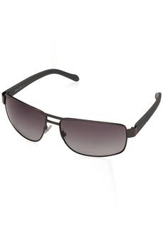 Fossil Men's Fos3060s FOS3060S Rectangular Sunglasses DARK RUTHENIUM GRAY/GRAY GRADIENT 63 mm