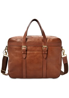 Fossil Men's Haskell Leather Utility Briefcase
