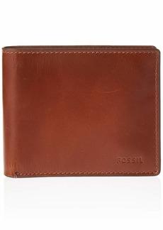 Fossil Men's Hugh Leather RFID blocking Bifold Wallet
