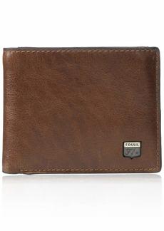 Fossil Men's Jesse Leather Bifold Wallet Brown
