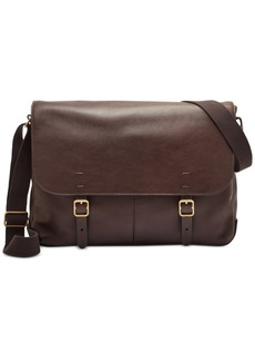 Fossil Men's Leather Buckner Messenger Bag