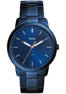 Fossil Men's Minimalist Ocean Blue Stainless Steel Bracelet Watch 44mm