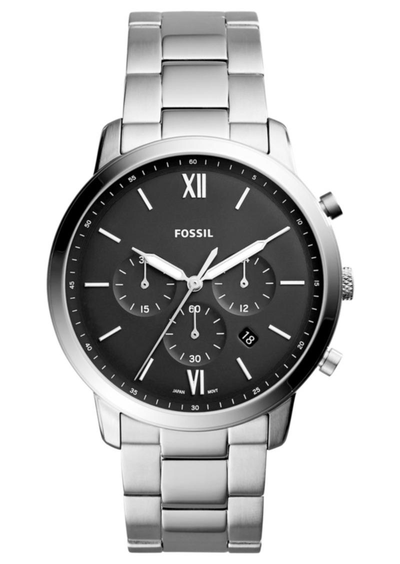 Fossil Men's Neutra Chronograph Stainless Steel Bracelet Watch 44mm