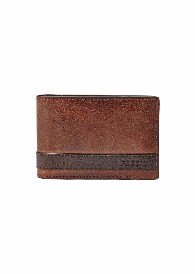 Fossil Men's Quinn Leather Money Clip Bifold Wallet