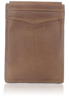 Fossil Men's Magnetic Card Case Wallet Quinn-Brown
