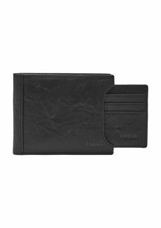 Fossil Men's Neel Leather Bifold Wallet Black