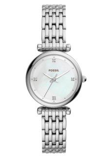 Fossil Mini Carlie Bracelet Watch, 29mm