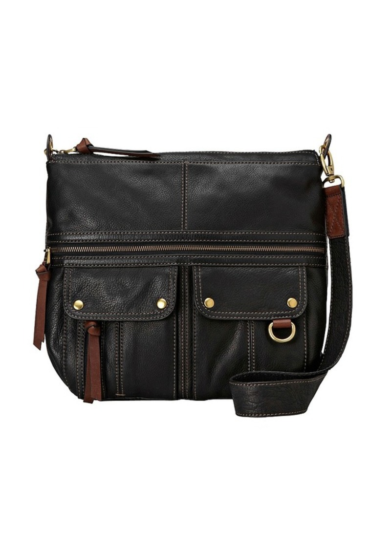Fossil Morgan North South Top Zip Crossbody Bag