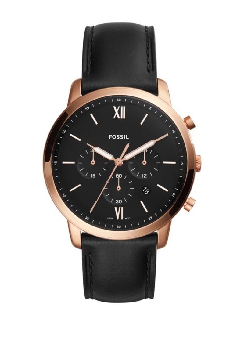 Fossil Neutra Chrono Chronograph Leather-Strap Watch