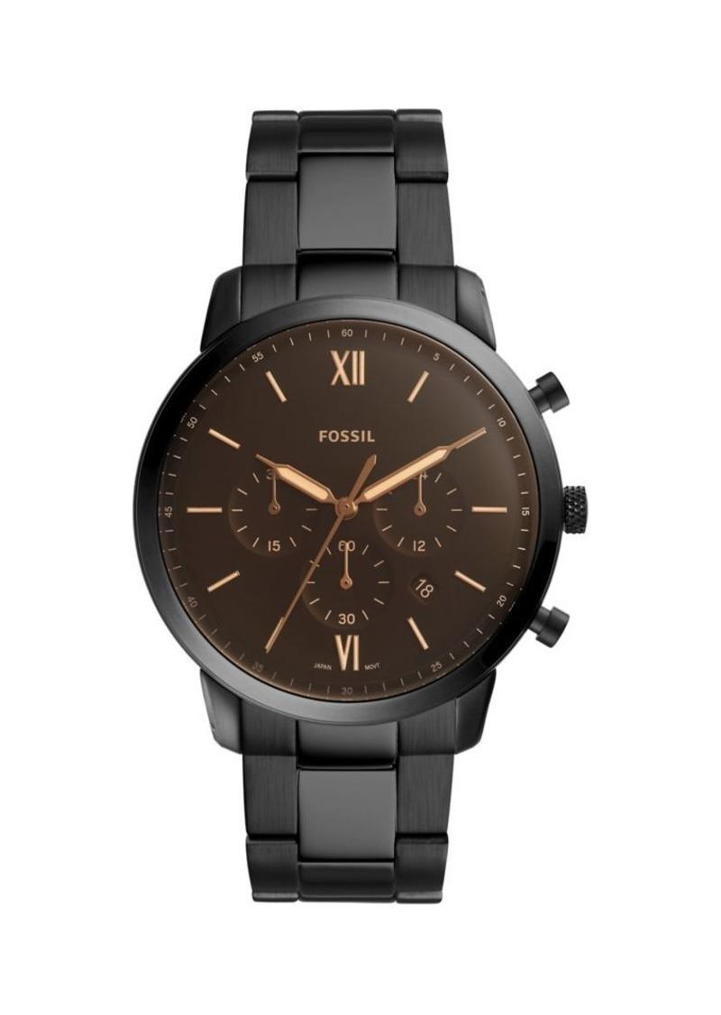 Fossil Neutra Black Stainless Steel Bracelet Chronograph Watch
