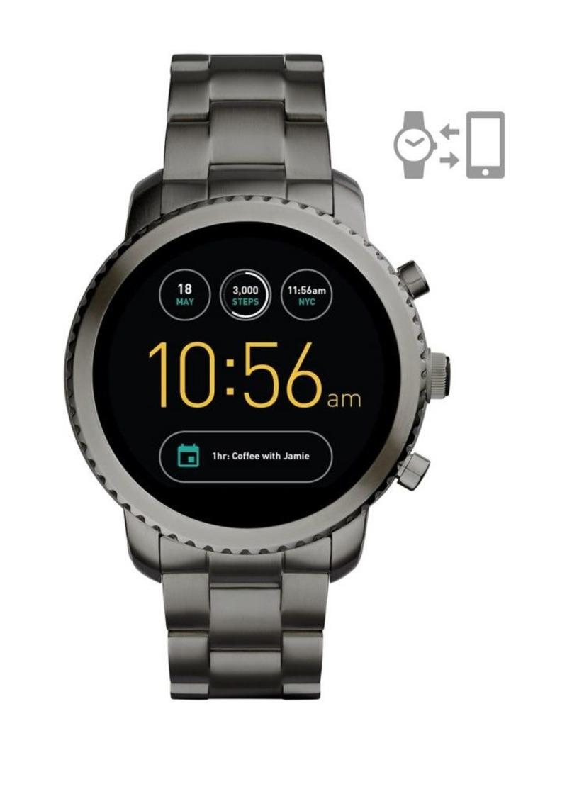 Fossil Q Explorist Stainless Steel Bracelet Touchscreen Smart Watch