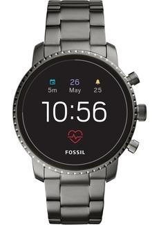 Fossil New Q Men's Explorist Gen 4 Hr Smoke Stainless Steel Bracelet Touchscreen Smart Watch 45mm