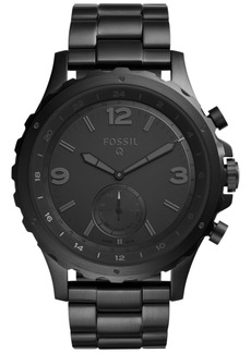 Fossil Q Men's Nate Black Stainless Steel Hybrid Smart Watch 50MM FTW1115