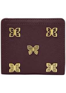 Fossil Rfid Logan Butterfly Leather Bifold Wallet