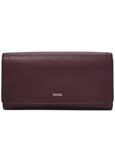 Fossil Rfid Logan Leather Flap Wallet