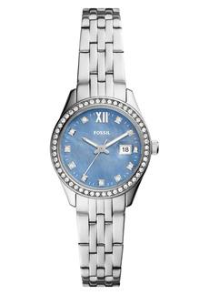 Fossil Scarlette Crystal Bracelet Watch, 28mm