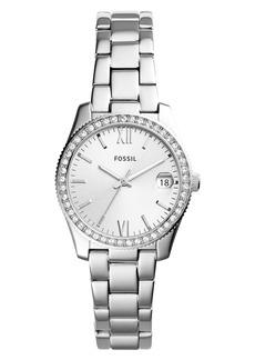 Fossil Scarlette Crystal Bracelet Watch, 32mm