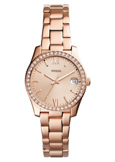 Fossil Scarlette Crystal Bracelet Watch, 32mm