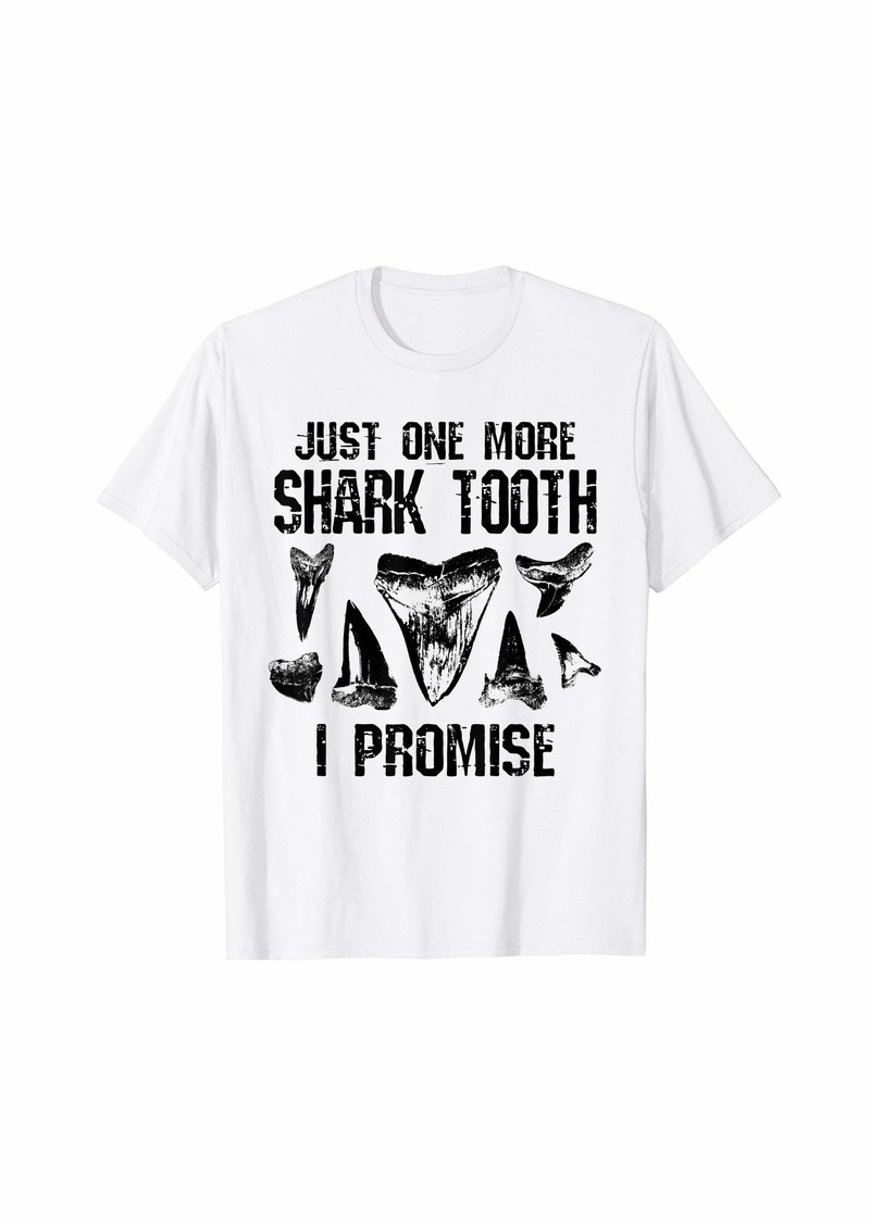 Fossil Shark Tooth Funny I Promise Collector Gift Teeth T-Shirt