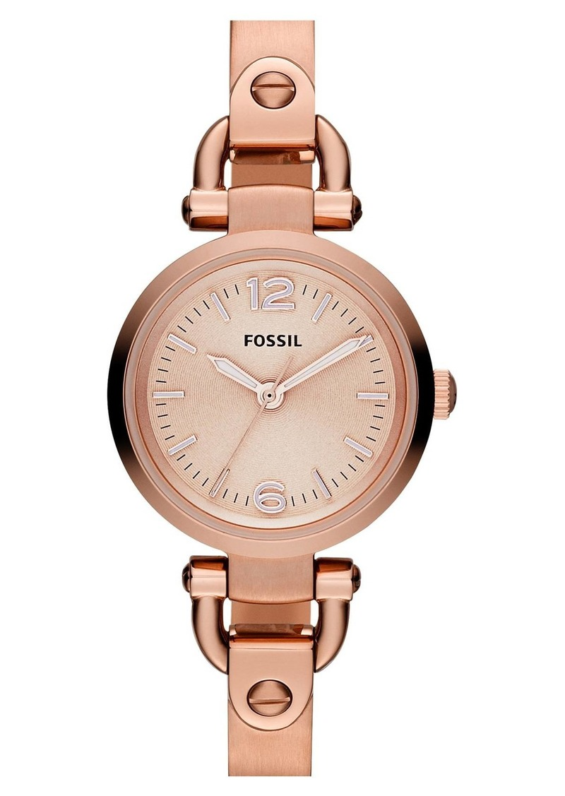 Fossil 'Small Georgia' Round Dial Bangle Watch, 26mm