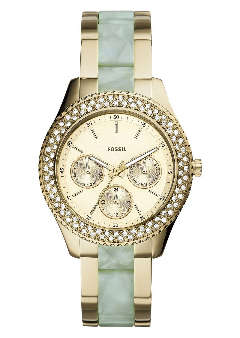 Fossil Stella Pavé Bezel Acetate Bracelet Watch, 38mm