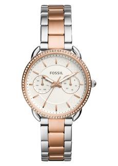 Fossil Tailor Crystal Multifunction Bracelet Watch, 35mm