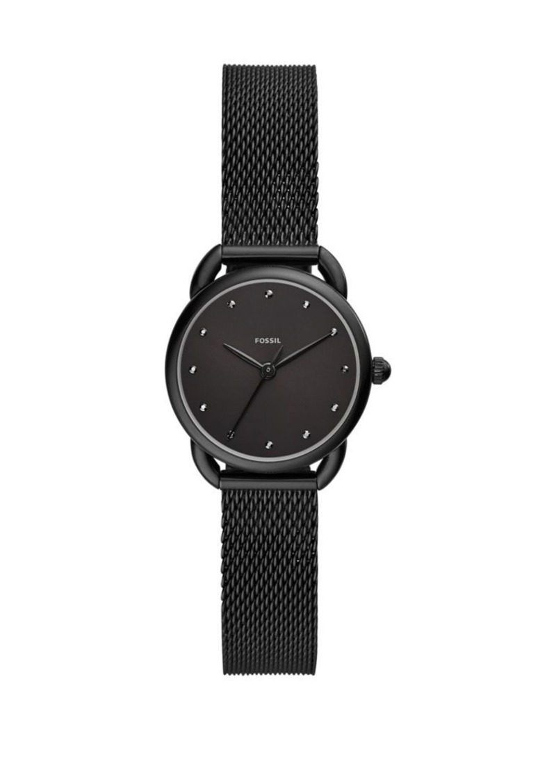 Fossil Tailor Stainless Steel Mesh-Bracelet Three-Hand Watch