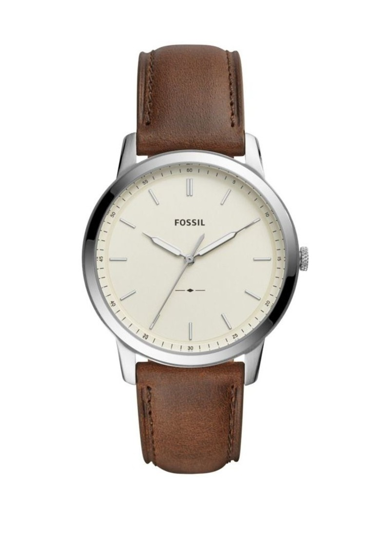 Fossil The Minimalist Leather-Strap Watch