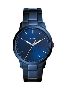 Fossil The Minimalist Three-Hand Ocean Blue Stainless Steel Bracelet Watch